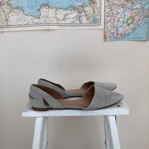 Madewell D'orsay suede flats 7.5